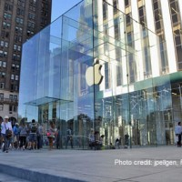 Apple was awarded a patent for its glass cube building design, as featured at its flagship Manhattan store.