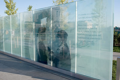 Glass walls stand to honor disabled veterans of u s for Hartung glass industries