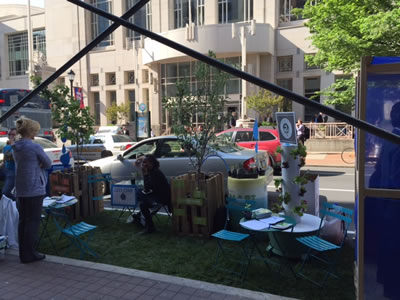 Saint-Gobain sponsored a parklet design competition to encourage architects to reimagine uses for public space.